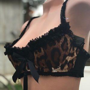 Leopard tassel burlesque cabaret bikini lingerie
